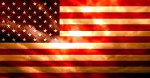 Αμερικανική σημαία με το σκούρο παρτοκαλί κόκκινο υπόβαθρο grunge ελεύθερη απεικόνιση δικαιώματος