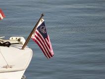 Αμερικανική σημαία ναυτικών στοκ φωτογραφίες