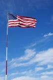 Αμερικανική σημαία στον πόλο Στοκ Φωτογραφία