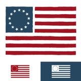 αμερικανική σημαία σχεδίου αρχική Στοκ φωτογραφία με δικαίωμα ελεύθερης χρήσης