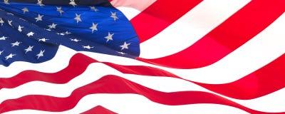 αμερικανική σημαία 021 Στοκ Εικόνα