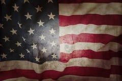 αμερικανική σημαία grunge Στοκ Εικόνα
