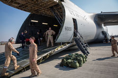 Αμερικανική στρατιωτική βοήθεια στην Ουκρανία Στοκ Φωτογραφία