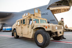 Αμερικανική στρατιωτική βοήθεια στην Ουκρανία Στοκ Φωτογραφίες
