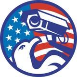 αμερικανική φαλακρή ασφάλεια αετών φωτογραφικών μηχανών Στοκ φωτογραφίες με δικαίωμα ελεύθερης χρήσης