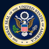 Αμερικανική χρυσή προεδρική σφραγίδα Στοκ Εικόνα