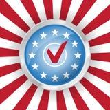 αμερικανική ψηφοφορία Στοκ φωτογραφία με δικαίωμα ελεύθερης χρήσης