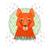 Αμερικανική jackal διανυσματική απεικόνιση Ινδών Στοκ Εικόνες