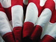 ΑΜΕΡΙΚΑΝΙΚΑ κυματισμένα σημαία λωρίδες στοκ εικόνες