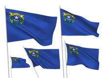 ΑΜΕΡΙΚΑΝΙΚΕΣ Νεβάδα διανυσματικές σημαίες Στοκ Εικόνες
