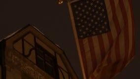 ΑΜΕΡΙΚΑΝΙΚΗ αμερικανική σημαία 4K UHD απόθεμα βίντεο