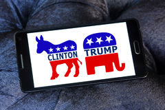 ΑΜΕΡΙΚΑΝΙΚΗ εκλογή μεταξύ του ατού και Χίλαρυ clinton στοκ φωτογραφία με δικαίωμα ελεύθερης χρήσης