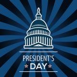 ΑΜΕΡΙΚΑΝΙΚΗ ευχετήρια κάρτα ημέρας Προέδρου, εορτασμός των Ηνωμένων Πολιτειών της Αμερικής διανυσματική απεικόνιση