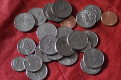 ΑΜΕΡΙΚΑΝΙΚΗ ΟΙΚΟΝΟΜΊΑ COINS_AMERICAN Στοκ εικόνα με δικαίωμα ελεύθερης χρήσης
