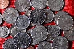 ΑΜΕΡΙΚΑΝΙΚΗ ΟΙΚΟΝΟΜΊΑ COINS_AMERICAN Στοκ Εικόνες