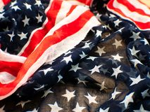ΑΜΕΡΙΚΑΝΙΚΗ σημαία για το 4ο του Ιουλίου στο άσπρο υπόβαθρο δ για 4ο Independense της ημέρας Ιουλίου Τέταρτο του Ιουλίου που γιορ Στοκ φωτογραφία με δικαίωμα ελεύθερης χρήσης