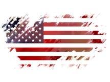 ΑΜΕΡΙΚΑΝΙΚΗ σημαία στα κτυπήματα υδατοχρώματος brushe στοκ φωτογραφία
