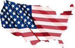 ΑΜΕΡΙΚΑΝΙΚΗ σημαία υπό μορφή χαρτών των Ηνωμένων Πολιτειών Στοκ Φωτογραφίες