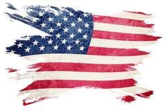 ΑΜΕΡΙΚΑΝΙΚΗ σημαία Grunge Αμερικανική σημαία με τη σύσταση grunge Κτύπημα βουρτσών Στοκ Εικόνες