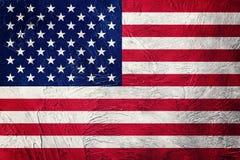 ΑΜΕΡΙΚΑΝΙΚΗ σημαία Grunge Αμερικανική σημαία με τη σύσταση grunge Στοκ φωτογραφίες με δικαίωμα ελεύθερης χρήσης