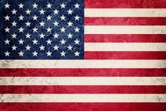 ΑΜΕΡΙΚΑΝΙΚΗ σημαία Grunge Αμερικανική σημαία με τη σύσταση grunge Στοκ εικόνα με δικαίωμα ελεύθερης χρήσης