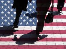 αμερικανικοί αγοραστές στοκ φωτογραφίες