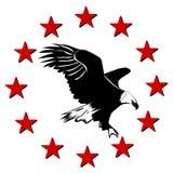 Αμερικανικοί αετός και αστέρια Στοκ Εικόνα