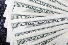 Αμερικανικοί λογαριασμοί εκατό δολαρίων στοκ φωτογραφία με δικαίωμα ελεύθερης χρήσης