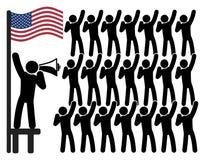 Αμερικανικοί πατριωτισμός και ηγεσία ελεύθερη απεικόνιση δικαιώματος
