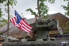 ΑΜΕΡΙΚΑΝΙΚΟΙ στρατιωτικοί εξοπλισμός και στρατιώτες στο γύρο ΙΙ Dragoon Στοκ Φωτογραφία