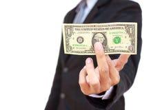 1 αμερικανικού $ εκμετάλλευσης επιχειρηματιών Στοκ Φωτογραφία
