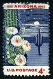 ΑΜΕΡΙΚΑΝΙΚΟ γραμματόσημο κατάστασης πολιτείας της Αριζόνα Στοκ εικόνα με δικαίωμα ελεύθερης χρήσης
