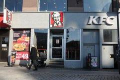 ΑΜΕΡΙΚΑΝΙΚΟ ΕΣΤΙΑΤΟΡΙΟ ΑΛΥΣΙΔΩΝ ΤΗΣ KFC ΣΤΗΝ ΚΟΠΕΓΧΑΓΗ Στοκ φωτογραφία με δικαίωμα ελεύθερης χρήσης