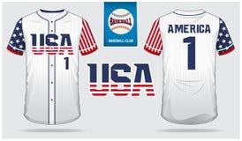 ΑΜΕΡΙΚΑΝΙΚΟ μπέιζ-μπώλ Τζέρσεϋ, αθλητισμός ομοιόμορφος, αθλητισμός μπλουζών ρεγκλάν, κοντός, πρότυπο καλτσών Χλεύη μπλουζών μπέιζ απεικόνιση αποθεμάτων