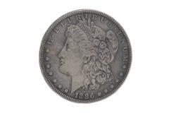 Αμερικανικός ασημένιος νόμισμα δολαρίων Στοκ φωτογραφία με δικαίωμα ελεύθερης χρήσης