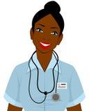 Αμερικανικός γιατρός Afro Στοκ Φωτογραφία