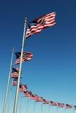 αμερικανικός διανυσματικός Ιστός απεικόνισης σημαιών Στοκ εικόνα με δικαίωμα ελεύθερης χρήσης
