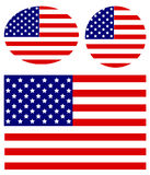 αμερικανικός διανυσματικός Ιστός απεικόνισης σημαιών Στοκ εικόνες με δικαίωμα ελεύθερης χρήσης