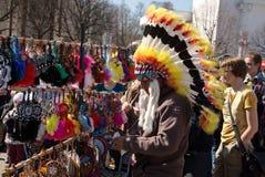 Αμερικανικός Ινδός στο κέντρο έκθεσης όλος-Ρωσία στη Μόσχα Στοκ φωτογραφίες με δικαίωμα ελεύθερης χρήσης