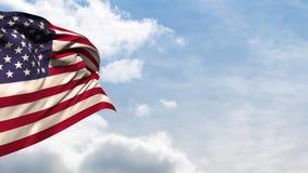 Αμερικανικός κυματισμός εθνικών σημαιών απεικόνιση αποθεμάτων