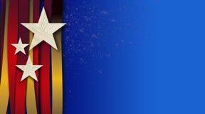 Αμερικανικός κόκκινος χρυσός υποβάθρου αστεριών και λωρίδων Στοκ φωτογραφία με δικαίωμα ελεύθερης χρήσης