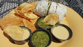 Αμερικανικός-μεξικάνικο μεσημεριανό γεύμα στοκ εικόνα με δικαίωμα ελεύθερης χρήσης