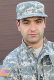 Αμερικανικός στενός επάνω στρατιωτών στρατού στοκ εικόνα