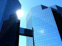 αμερικανικός στο κέντρο της πόλης ήλιος στοκ φωτογραφία με δικαίωμα ελεύθερης χρήσης