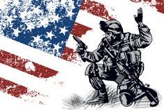 Αμερικανικός στρατιώτης διανυσματική απεικόνιση
