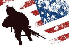 Αμερικανικός στρατιώτης Στοκ εικόνες με δικαίωμα ελεύθερης χρήσης
