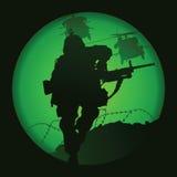 Αμερικανικός στρατιώτης Στοκ Εικόνες