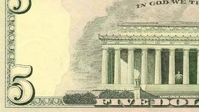 Αμερικανικός συνδετήρας ακολουθίας χρημάτων λογαριασμών δολαρίων απόθεμα βίντεο