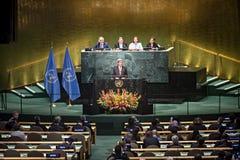 Αμερικανικός Υπουργός Εξωτερικών John Kerry στη Γενική Συνέλευση των Η.Ε Στοκ Φωτογραφία