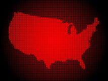 αμερικανικός χάρτης Στοκ φωτογραφία με δικαίωμα ελεύθερης χρήσης